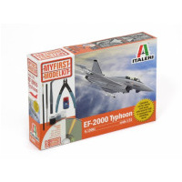 Italeri 1/72 EF-2000 Typhoon My First Model Plastic Kit with Paints, Glue and Tools
