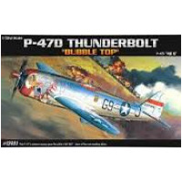 "Academy 1/72 P-47D ""Bubble Top"" Plastic Model Kit"