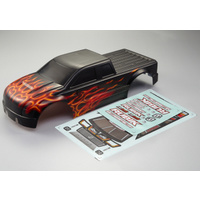 Killer Body Rubik Body 1/10th Electric Monster Truck Flame pattern Printed shell