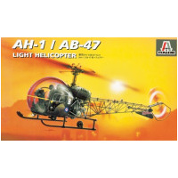 Italeri 1/72 Bell AH-1/AB-47 Helicopter Plastic Model Kit