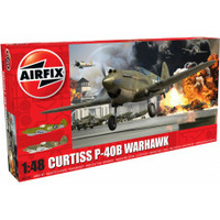 Airfix 1/48 Curtiss P-40B Warhawk Plastic Model Kit
