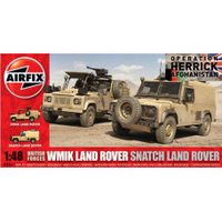 Airfix 1/48 British Forces WMIK Land Rover, Snatch Land Rover Plastic Model Kit