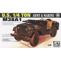 AFV Club 1/35 U.S. 1/4 Ton Army and Marine M38A1 Plastic Model Kit