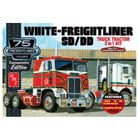 1/25 AMT White Freightliner SD/DD 2 in 1, 75th Anniversary Edition Plastic Model Kit