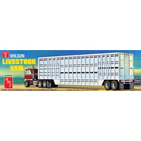 AMT 1/25 Wilson Livestock Van Cattle Trailer Plastic Model Kit