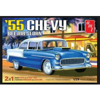 AMT 1/25 '55 Chevy Bel Air Sedan 2 in 1 Plastic Model Kit