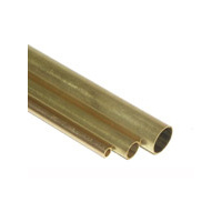 BRASS TUBE 3mm ODx.45mm WALL, 1 MTR