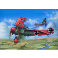 Merit 1/24 Fokker DR.1 Plastic Model Kit
