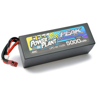 Peak Racing Power Plant Lipo 5000 14.8V 45C (Black case, Deans Plug) 4S/4CELL