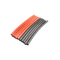 4mm PE Heat Shrink Red and Black, 10cm long, 5 sets