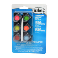 Testors ACRYLIC PAINT POT SET-6 FLUORO COLOURS